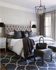 99 White And Grey Master Bedroom Interior Design 45
