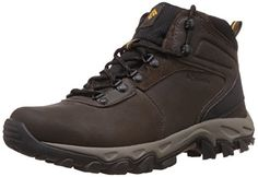 Columbia Men's Newton Ridge Plus II WP Hiking Boot, Cordovan/Squash, 10 D US Waterproof hiking boot featuring leather upper with breathable mesh tongue and lace-up vamp Padded tongue and collar Techlite cushioning midsole for comfort Omni-Grip outsole Black Hiking Boots, Best Hiking Boots, Hiking Gear, Hiking Shoes, Trekking Shoes, Men Hiking, Camping Gear, Camping Hacks, Waterproof Shoes For Men