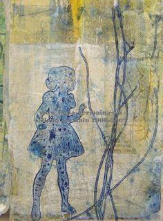 mixed media print by linda germain