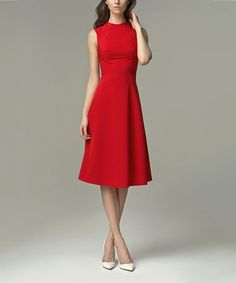 Loving this Red A-Line Dress on #zulily! #zulilyfinds
