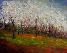 """#139  """"RITES OF SPRING"""" by Dee Sanchez Oil ~ 8 x 10"""