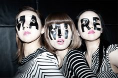 TsuShiMaMiRe / つしまみれ - Please call our name!!! Look at our faces! [MA] is Yayoi on Bass. [MI] is Mari on Vocal and Guitar. [RE] is Mizue on Drums.