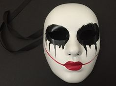THE PURGE MOVIE ANARCHY HORROR mask themed red lips womens purge mask