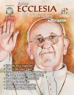 Acuarela del papa francisco para portada de revista Ecclesia