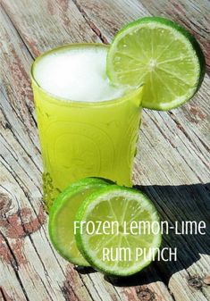 "This ""Frozen Lemon-Lime Rum Punch"" has me SO excited for spring/summer cocktails!"
