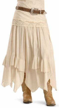 Resistol BOHO Dress Skirt available at Different shoes for me 😆 Western Dresses, Western Outfits, Western Wear, Modest Fashion, Skirt Fashion, Fashion Outfits, Womens Fashion, Stylish Outfits, Country Fashion
