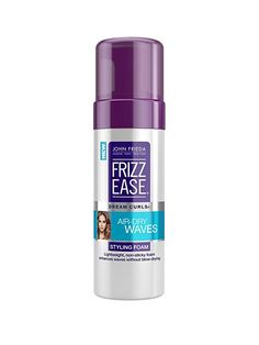 HAIR If you've sworn off hot tools—or are just looking to catch a few extra minutes of sleep in the morning—this nonsticky styling foam keeps waves and curls soft, supple, and completely frizz-free when you air-dry.