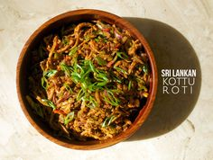 One of the true gems of modern Sri Lankan cuisine, kottu roti - especially that made by any of the sea of street vendors in Colombo - is a tantalizing street food involving mashed up roti (bread), vegetables and loads of spices! Get the recipe at http://arousingappetites.com/kottu-roti