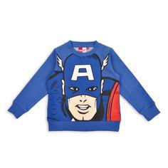 Sueter EPK para niño azul con estampado de Capitan America al frente