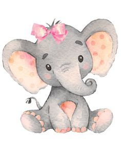 Bebé niña elefante vivero imprimir JPEG 8 por digital - Baby Girl Elephant Nursery Print JPEG 8 by 10 / Digital File Baby Elephant Drawing, Baby Girl Elephant, Elephant Baby Showers, Baby Animal Drawings, Baby Elephant Images, Elephant Drawings, Baby Boy, Baby Drawing, Drawing Step