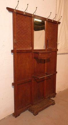 AE097/ Garderobe Flurgarderobe  Jugendstil um 1900
