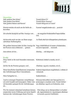 Motivációs levél német German English, Learn German, German Language, I School, Learning, Letter Writing, German Grammar, German Language Learning, Languages