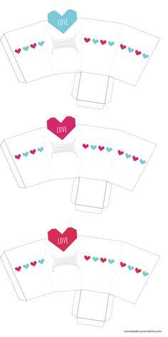 Cajas románticas para imprimir - Manualidades
