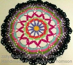 mandala, crochet mandala, doily, crochet doily, crochet motif