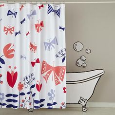 Wildflower Shower Curtain.