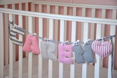 letters hanging crib