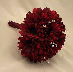 Burgundy Gerbera & Crystal Posy Bouquet