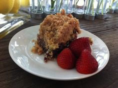 Blueberry Crumb Cake #recipe from Barefoot Contessa at Home by Ina Garten