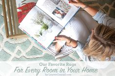 how to find the perfect rug for each room in your home {featuring loloi rugs}
