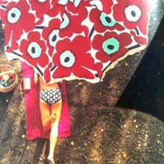 Marimekko beach umbrella.