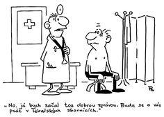 lymfom_psychika_doktori_sbornik_kreslene_vtipy0247.gif (1667×1195) Medical Terminology, Humor, Jokes, Comics, Funny, Psychology, Husky Jokes, Humour, Funny Photos