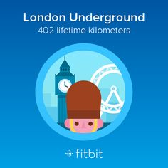 I covered 402 kilometers with my #Fitbit and earned the London Underground badge.