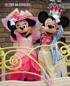 Mickey & Minnie for Easter parade at Tokyo Disneyland