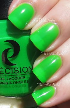 """""""Lime A Dozen is a neon green jelly. This was super bright! It does need some undies though to be completely opaque. The formula was good, it was a nice consistency and easy to apply. I used 3 coats for the photos below."""""""