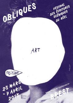 Obliques 2013, Festival des écritures scéniques du réel, Brest (affiche : Formes Vives)