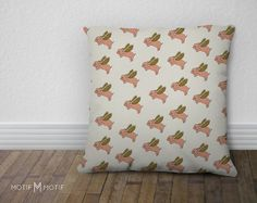 When Pigs Fly Pillow Cover  18x18 or 22x22 by MotifMotifShop