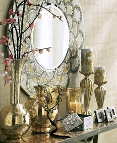 Indulge in shimmery and shiny details from Pier 1