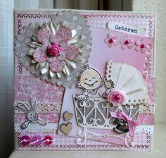 scrapcard girls: Knutsel en Zo vrijdag....Babykaart.