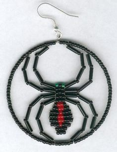 Halloween Black Widow Spider Earrings by FoxyMomma on etsy | Flickr - Photo Sharing!