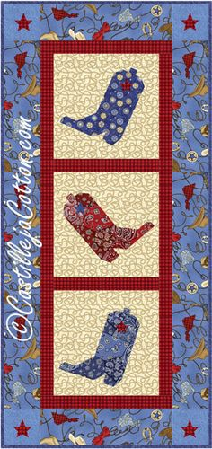 Dancing Boots Table Runner Quilt Pattern
