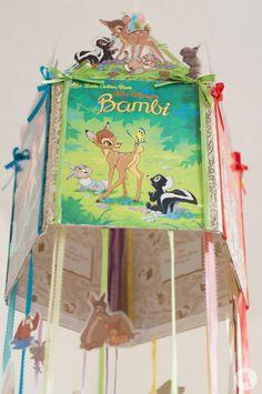 A Walt Disney inspired Little Golden Books mobile (Bambi detail) by Kookaburra Creative Disney Baby Rooms, Disney Nursery, Disney Babies, Bambi Nursery, Girl Nursery, Nursery Crib, Nursery Ideas, Disney Diy, Disney Crafts