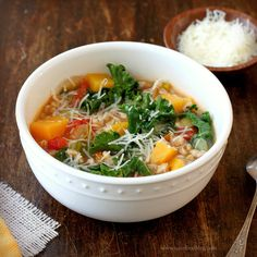 Kale and Farro Soup - Read More at Relish.com
