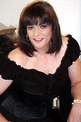 Here she is again, looking as wonderful in a brunette bob style wig #transvestite