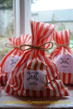 Thrifty pirate party - party bags