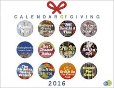 """You'll be amazed at how much a """"Calendar of Giving"""" can teach children about empathy and generosity of spirit. Click to see ideas for giving as a family in 2016!"""