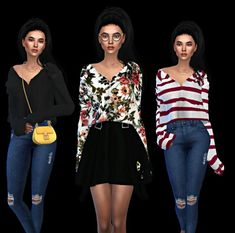 Leo 4 Sims: Mona top • Sims 4 Downloads
