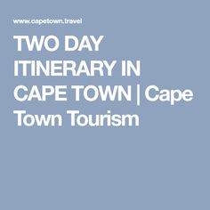If you're visiting for two days and looking for things to do in Cape Town, take a look at this two-day trip planner for some great ideas on how to see the most of the city in a short time. Cape Town Tourism, Second Day, Travel Planner, South Africa, How To Plan, Trip Planner, Itinerary Planner