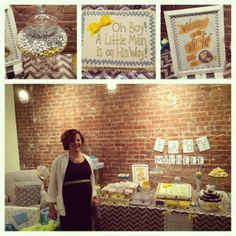 #chevron Baby Shower www.apeventdesign.com