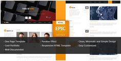 Review Epic One Page Parallax HTML TemplateIn our offer link above you will see