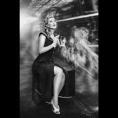 #pinup #paulawalks #theelderwoodphotography #vintage #retro #vintagehair #pinupgirl  #classic #beautiful #cute #sweet #woman #lady #jewelry #accessorie #pretty #redlipstick #victoryrolls #train #trainstation #hollywood #waiting #glamour
