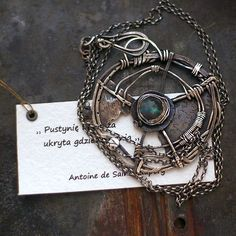 Naszyjnki z labradorytem - cobalt blue ewa lompe biżuteria autorska .