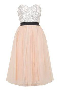 **Sweetheart Bustier Tutu Midi Dress by Rare