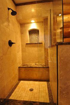 Bear Creek Cabin - - bathroom - denver - by Mountain Log Homes & Interiors