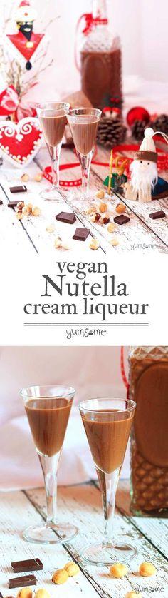 Home-made #vegan #Nutella cream #liqueur. Oh. My. Glob. | yumsome.com