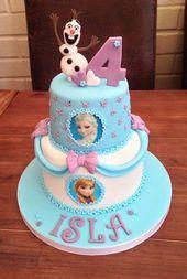 Design taken from the internet Elsa Birthday Cake, Frozen Themed Birthday Cake, Frozen Themed Birthday Party, 4th Birthday, Frozen Party Cake, Geek Birthday, Themed Cakes, Bolo Olaf, Disney Frozen Cake