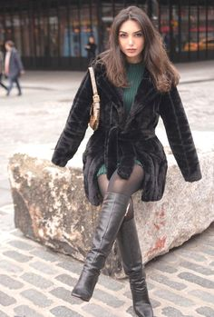 Tall Leather Boots, Tall Boots, High Boots, Black Boots, Knee Boots, High Heels, Botas Sexy, Tight Dresses, Tights